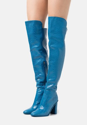 CYNTHIA - High heeled boots - blue