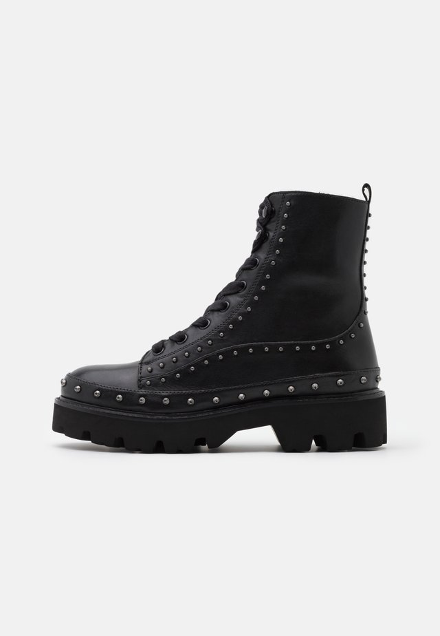 CINGOLI - Lace-up ankle boots - nero limousine