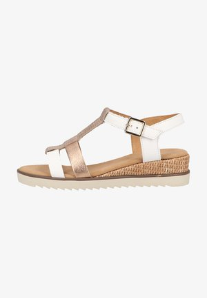 Sandales compensées - weis/rame