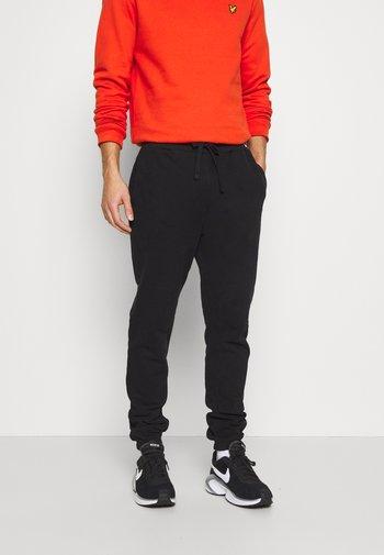 DOUBLE BRUSH TRACK PANT - Pantaloni sportivi - black