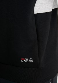 Fila - HOODY - Luvtröja - black/light grey melange/bright white - 3