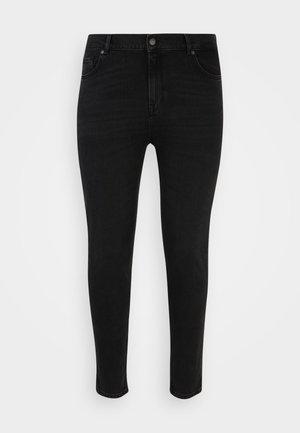 SLFANNA SLIM BEAUTY - Slim fit jeans - black denim