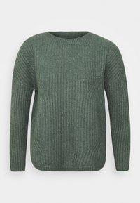ONLY - ONLBERNICE ROUND - Jumper - balsam green/white melange - 5