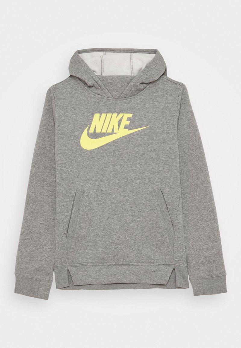 Nike Sportswear - Jersey con capucha - carbon heather/light zitron