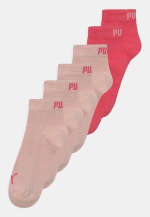 QUARTER 6 PACK - Socks - pink