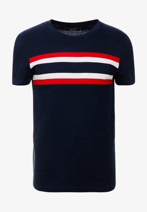WITH STRIPEMIX - T-shirt z nadrukiem - sky captain blue