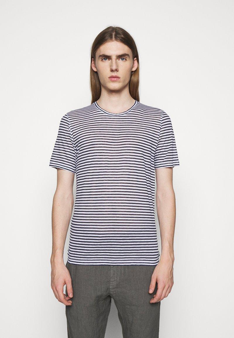 120% Lino - SHORT SLEEVE - Print T-shirt - white