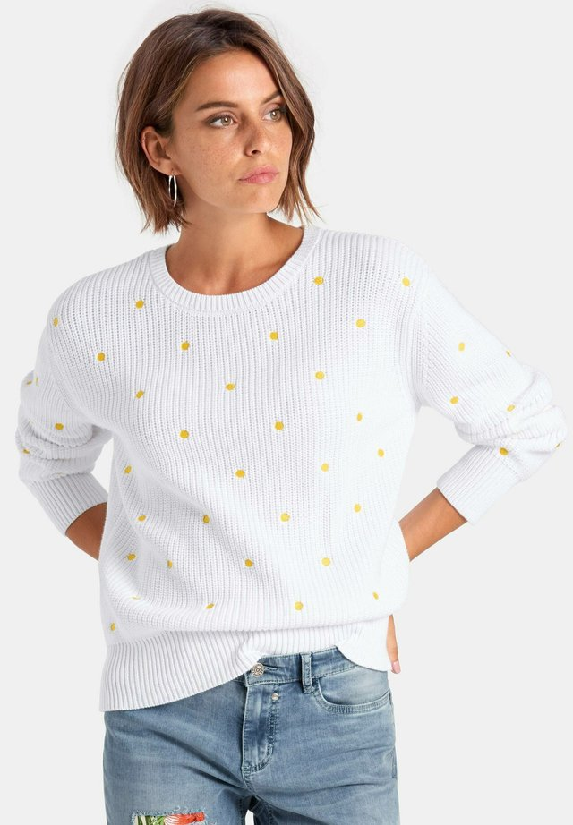 Pullover - white/corn yellow