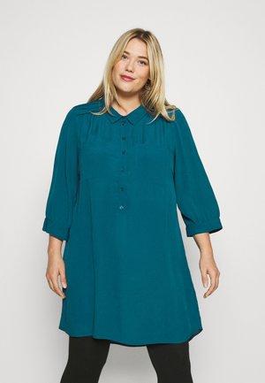 XMAISY TUNIC - Button-down blouse - maroccan blue