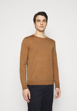 NEW BASIC CREW - Jumper - camel melange