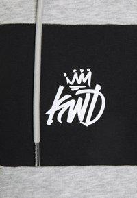 Kings Will Dream - CHAPMAN ZIPTHOUGH HOODIE - Sweatjacke - grey marl/black/white - 5