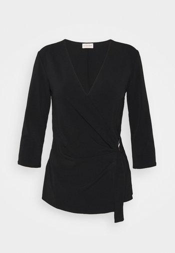 SHANELLE - Long sleeved top - black