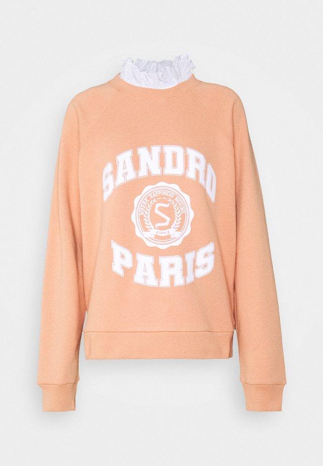 Sweatshirt - abricot