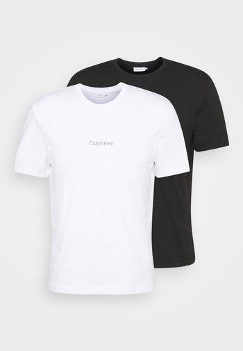 CENTER LOGO 2 PACK - T-shirt med print - black