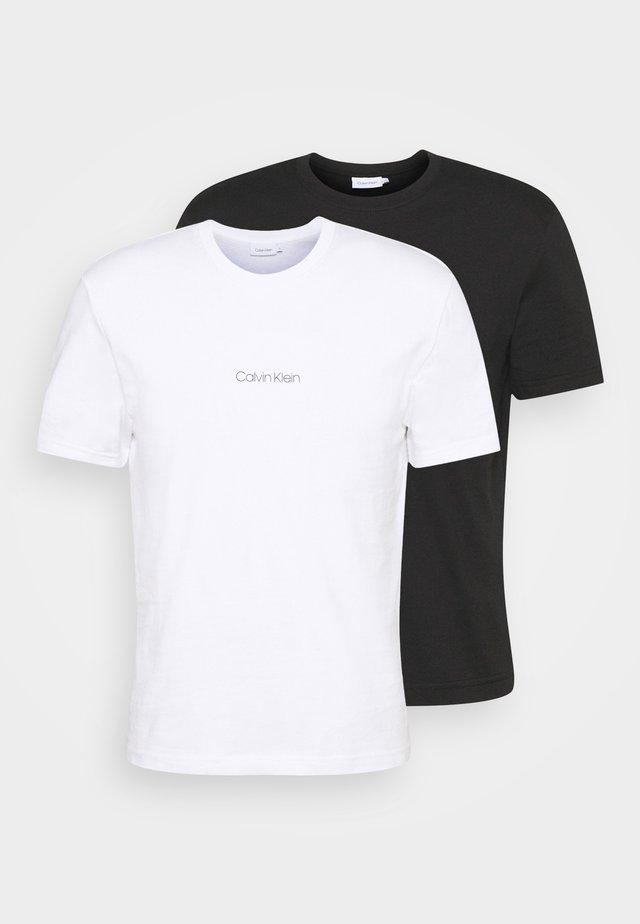 CENTER LOGO 2 PACK - Basic T-shirt - black