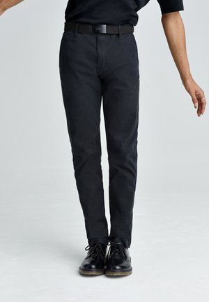 XX CHINO STD II - Trousers - mineral black shady