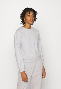 Even&Odd - Basic Crew neck regular fit - Sweatshirt - mottled light grey - 0