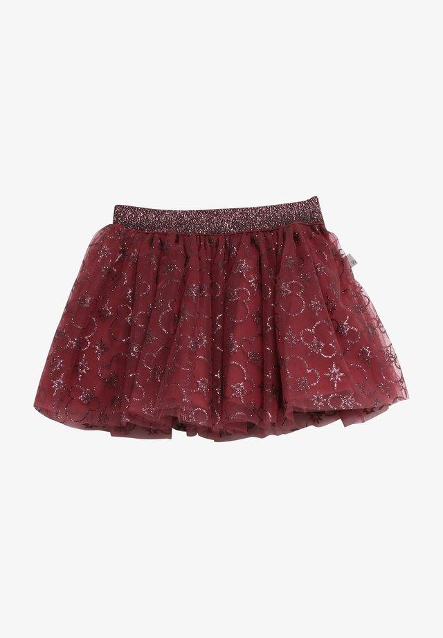 A-line skirt - mickey burgundy