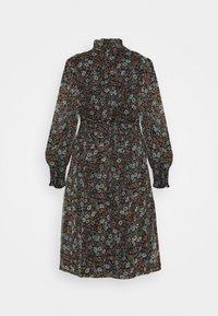 Simply Be - HIGH NECK SHIRRED WAIST MIDI DRESS - Day dress - black - 1