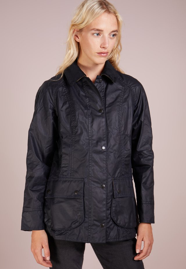 BEADNELL WAX JACKET - Waterproof jacket - navy