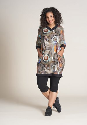 CATHRINE - Jersey dress - multicoloured