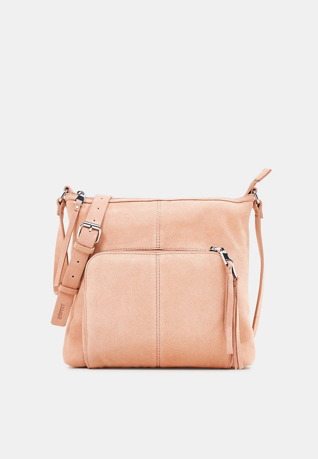 SCHULTERTASCHE AUS VELOURSLEDER - Across body bag - peach