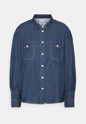 LIGHT WEIGHT - Button-down blouse - denim dark blue