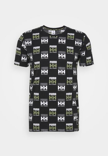 HELLY HANSEN TEE - Print T-shirt - black