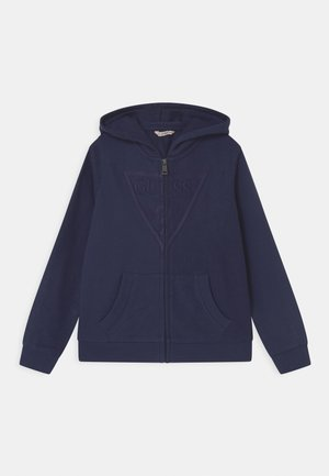 JUNIOR HOODED ACTIVE - Mikina na zip - bleu