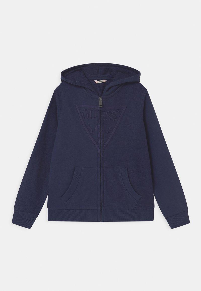 Guess - JUNIOR HOODED ACTIVE - Zip-up sweatshirt - bleu