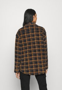 BDG Urban Outfitters - BRUSHED CHECKED SHACKET - Button-down blouse - orange - 2