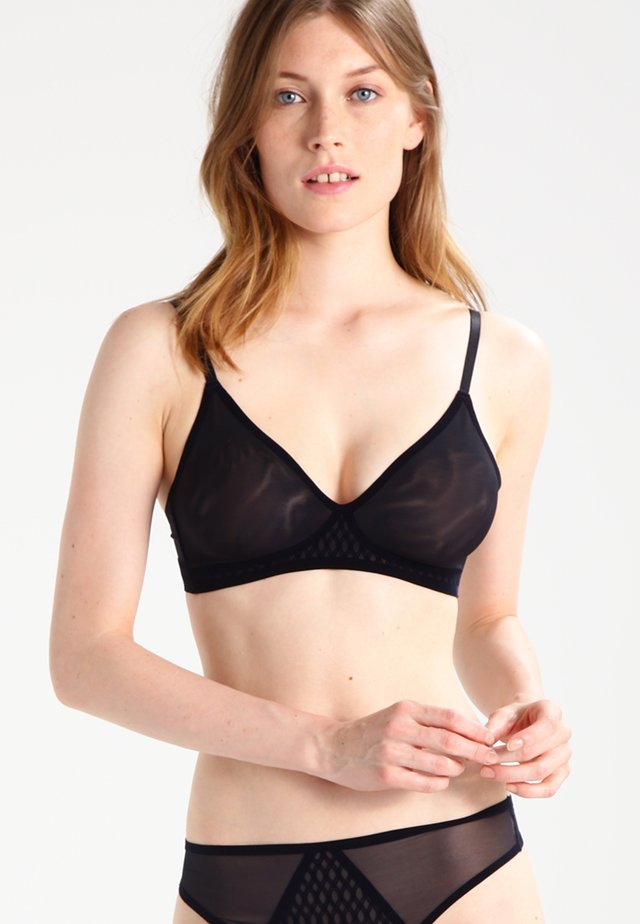 SECOND SKIN - Triangle bra - schwarz