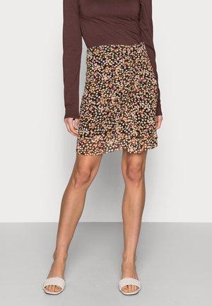 JESSY SKIRT - Mini skirt - black/lovely pink