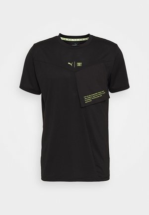 TRAIN FIRST MILE XTREME TEE - Sportshirt - black