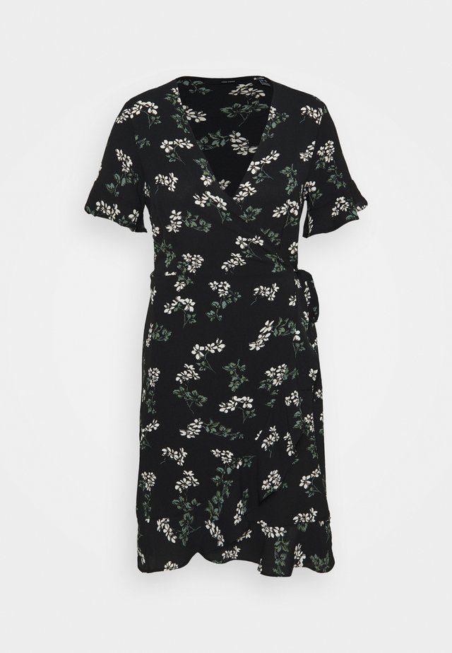VMSAGA WRAP FRILL DRESS  - Korte jurk - black