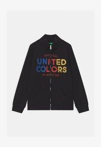 Benetton - BASIC GIRL - Zip-up hoodie - black - 0