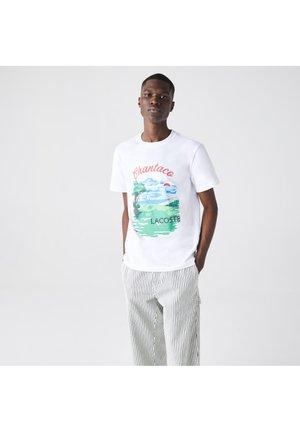 Print T-shirt - blanc rouge