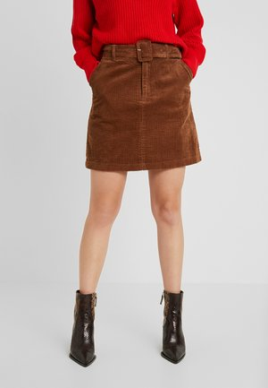 VMLEVI HW SHORT SKIRT  - Mini skirt - cognac
