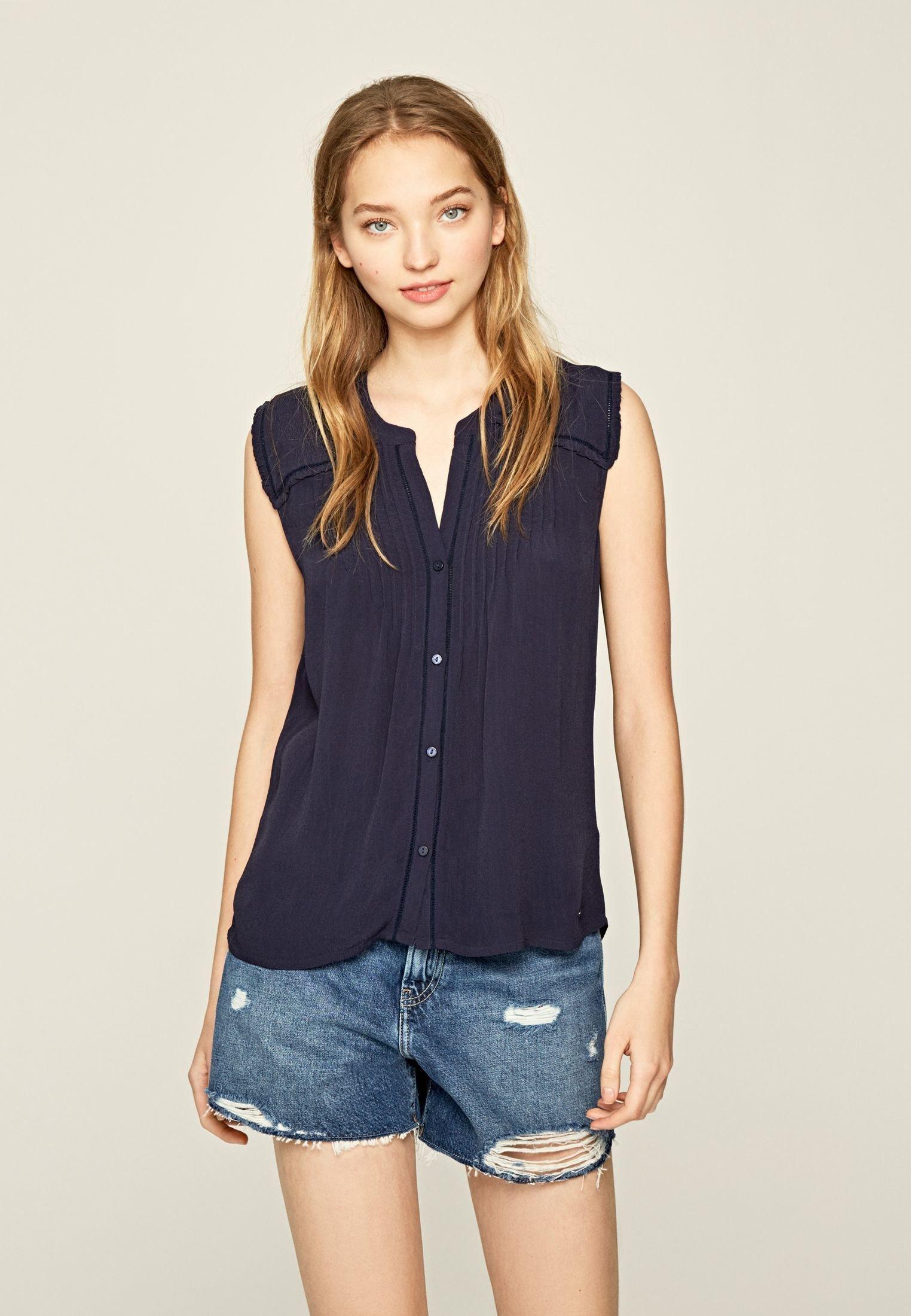 Pepe Jeans JOAN - Blouse - dark ozaen blue - Tops & T-shirts Femme 0VcaI
