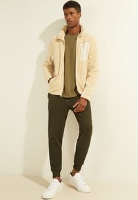 Guess - Fleece jacket - beige - 1