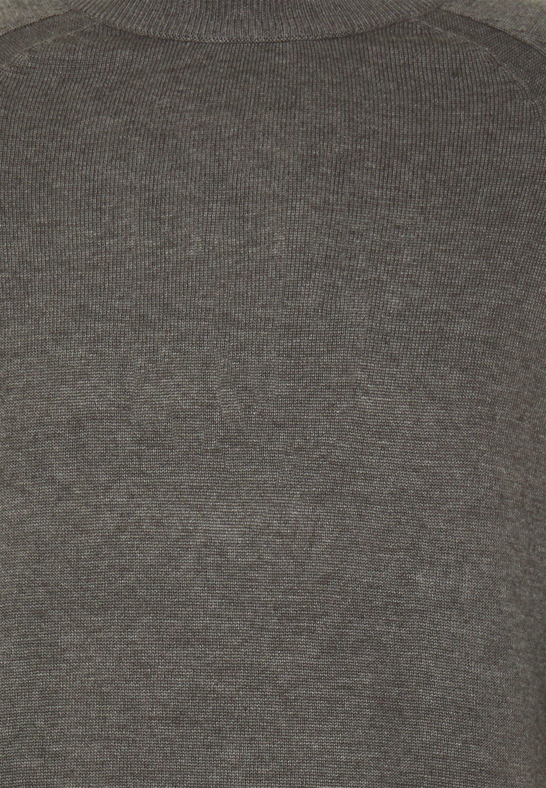 Solid O Neck - Jersey De Punto Grey Melange