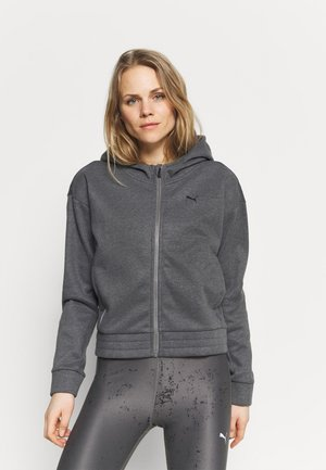 TRAIN FAVORITE FULL ZIP - veste en sweat zippée - charcoal heather