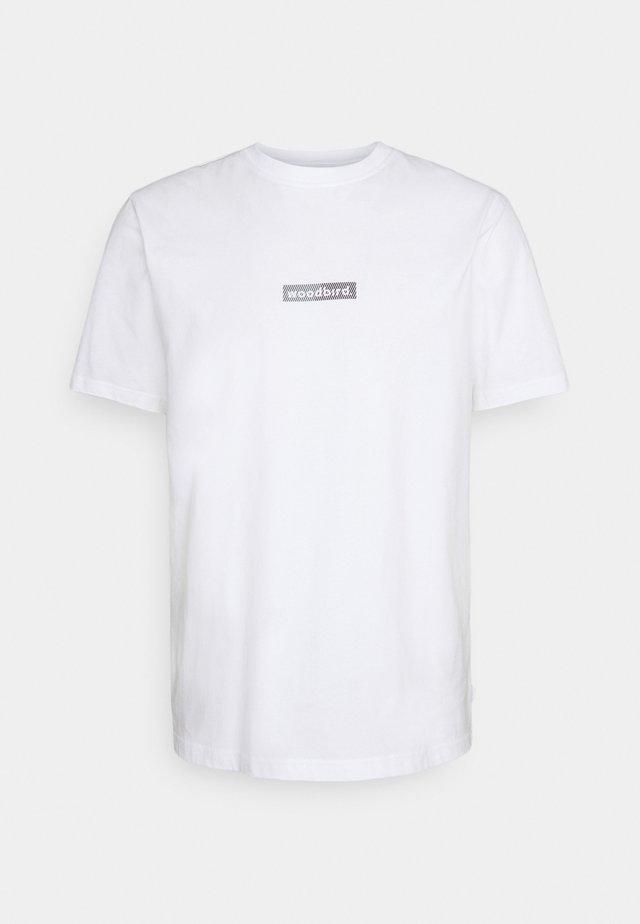 TROPE SPLIT TEE - T-shirt print - white