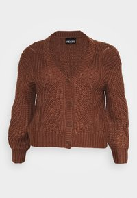 Pieces Curve - PCRACHEL CARDIGAN - Cardigan - root beer - 4