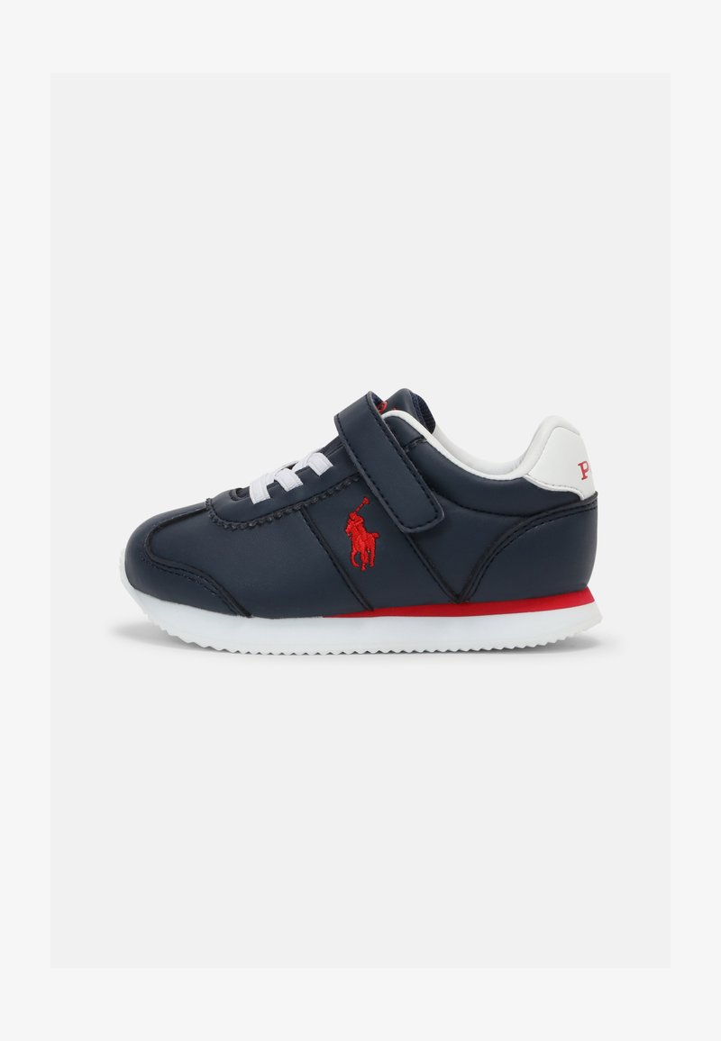 Polo Ralph Lauren - PONY JOGGER UNISEX - Trainers - navy smooth/red