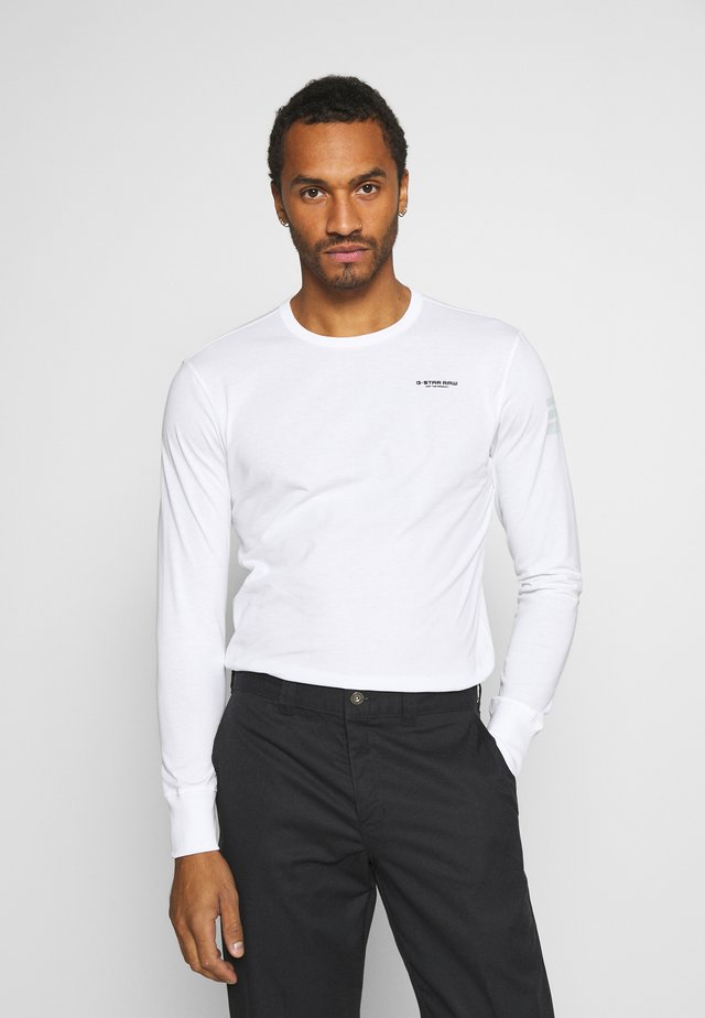 BASE R T L\S - Långärmad tröja - white