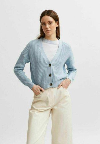 SLFSINNA CARDIGAN - Cardigan - cashmere blue