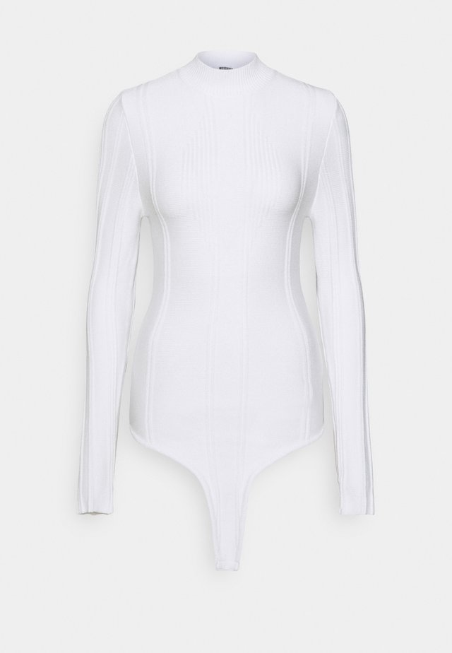 EXPOSED DETAIL BODYSUIT - Maglione - white