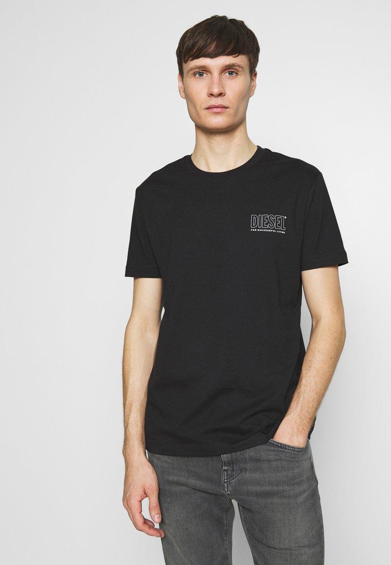 Diesel - JAKE - T-shirt con stampa - black