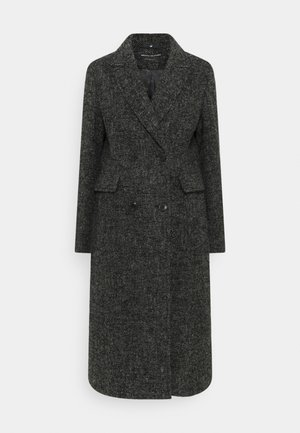 COAT PEAKED LAPEL TAILORED LONG FLAP POCKETS - Classic coat - multi/dark grey